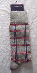 Tommy Hilfiger Mens Grey Checked Designer Socks - Gift idea  | eBay