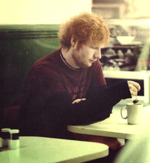 "Ed Sheeran: ""& you can't go to bed with out a cup of tea.""<3 (Cause you know he wrote Little Things for One Direction<3)"