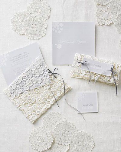 Hochzeitseinladungen mit spitze for Hochzeitseinladungen vintage mit spitze