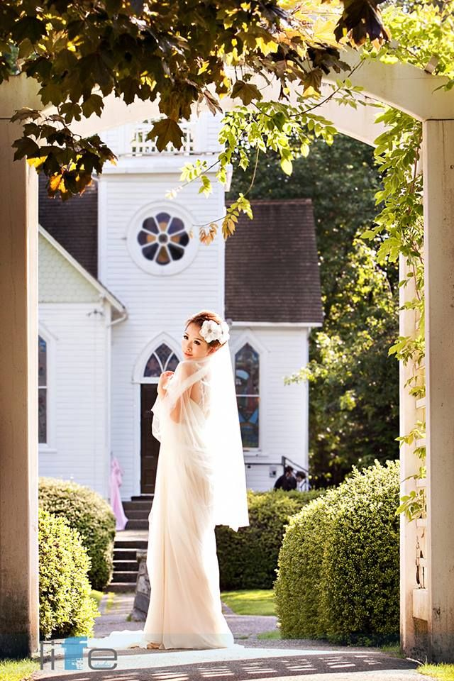 "Our gorgeous ""Chapel Bride"" Celia at The Chapel at Minoru Park. Vancouver Best Wedding Ceremony Venue  www.thechapels.ca"