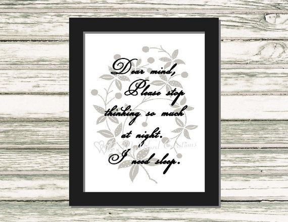 I Need Sleep Quote Art Funny Quote Word Art by ByMyWordCreations