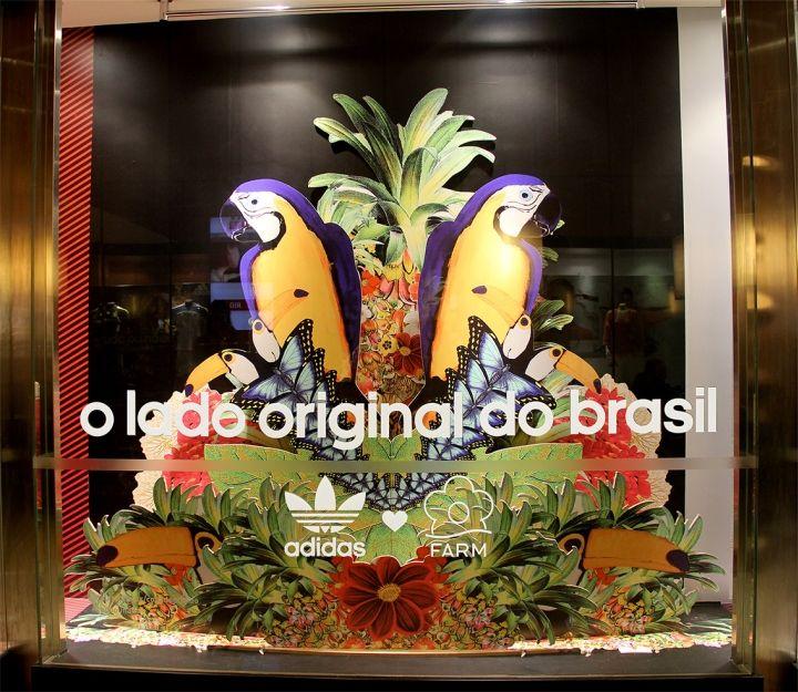 adidas Original's & The Farm Company Collection visual merchandising by Mcgarrybowen São Paulo