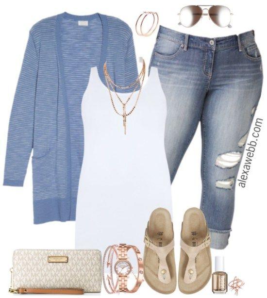Plus Size Spring Cardigan Outfit - Plus Size Spring Casual Outfit - Plus Size Fashion for Women - alexawebb.com #alexawebb