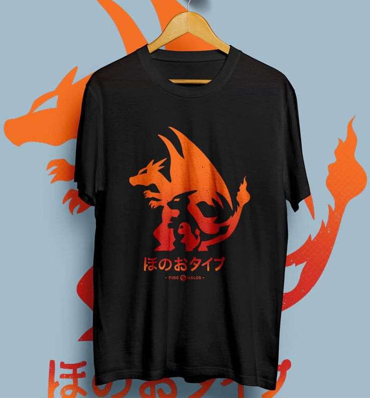 CHARIZARD FIRE TYPE POKEMON KALOS BLACK T-Shirt Unisex Size S,M,L,XL #Unbranded #ShortSleeve