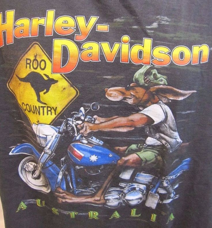 Harley Davidson Australia T Shirt XXL Kangaroo Motorcycle Biker Hog Down Under