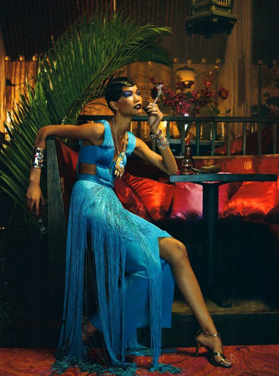 Styled by Edward Enninful and shot by Emma Summerton, Vogue Italia's The Black Allure features black bombshells from all over the world. Ajak Deng, Arlenis Sosa, Chanel Iman, Georgie Baddiel,…