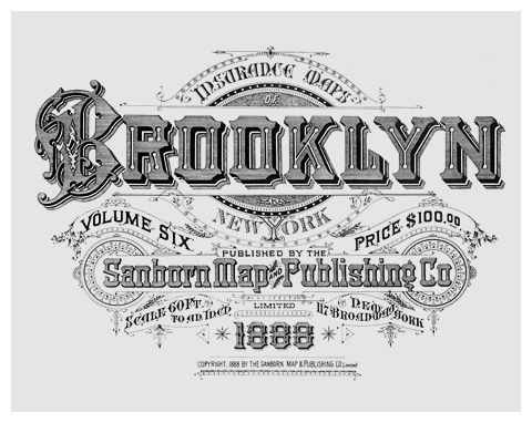 BROOKLYN New York. Atlas 80. Vol. 6, 1888  Variations of this design appeared be…