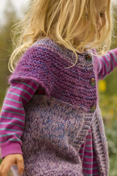 cute children's cardi (pic is mod of original vest pattern).  quick knit.  #pickles pattern with alternating one size free: