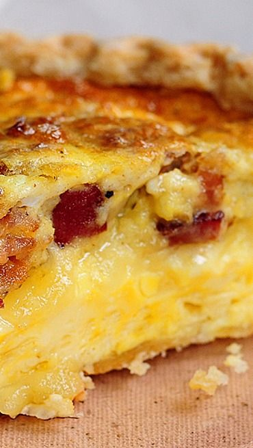 Brie and Bacon Quiche | Recipe | Bacon quiche, Cheese and ...