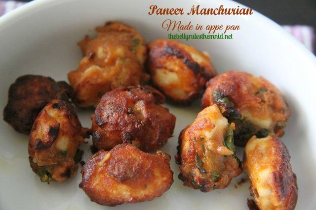Paneer Manchurian made in appe pan – The Belly Rules The Mind