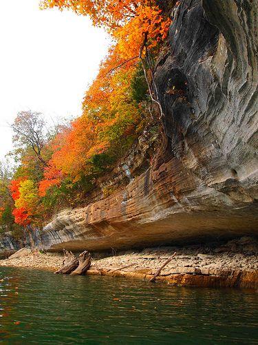 Fall in northwest Arkansas's Ozark mountain.