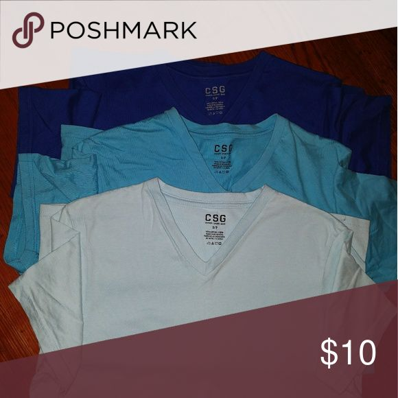 Comfy V-Neck T's CSG(Champs Sporting Goods) Cotton T's Soft cotton, very comfortable  Gently Worn/ 9/10 Condition Shirts
