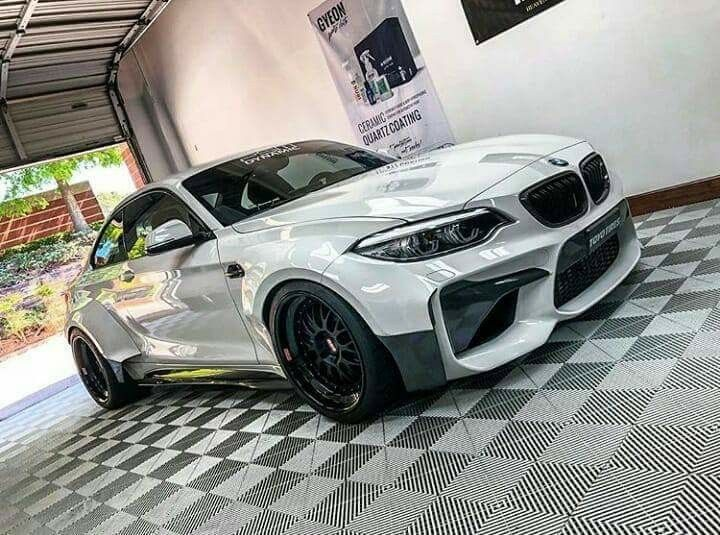 Bmw F87 M2 White Widebody With Images Bmw Car Bmw Cars