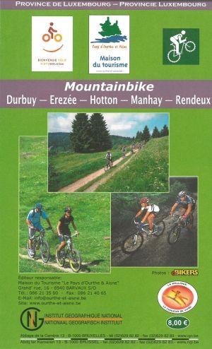 Mountainbike kaart / 47 MTS routes rond de Ourthe &  de Aisne in Durbuy & Hotton (9789462351516) NGIB