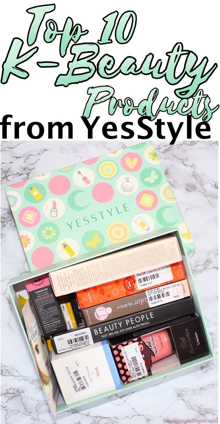 YesStyle's selection of Top 10 Must-Try Korean Beauty Products for 2016, and a full-face makeup look.