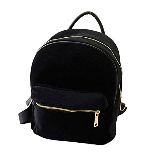 New Trending Backpacks: Backpack, GOODCULLER Women Gold Velvet Small Rucksack School Book Shoulder Bag (Black). Backpack, GOODCULLER Women Gold Velvet Small Rucksack School Book Shoulder Bag (Black)   Special Offer: $8.99      377 Reviews Feature: 100% brand new and high quality. Quantity: 1 PC Fashion Design Style:Fashion School Hiking Bag If you want to show your energetic and passion, choose it!!!...