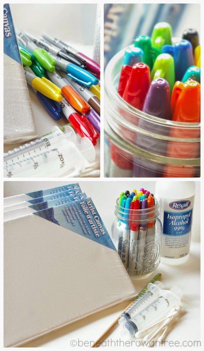 25+ unique Sharpie canvas ideas on Pinterest | DIY tie dye canvas ...