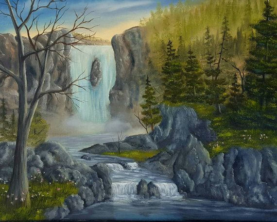 Check out this item in my Etsy shop https://www.etsy.com/au/listing/511271127/cascading-waterfalls-landscape-oil