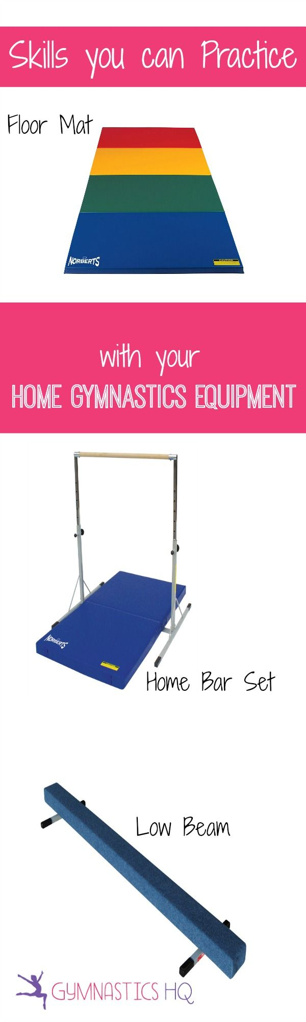 List of Gymnastics Skills you can Practice at Home with your Home Gymnastics Equipment