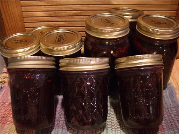 Huckleberry Preserves from Food.com: In Montana you wait for the huckleberries to get ripe, then you try to buy some to make this jam. They grow on West side of the Rockies. Then it is time for Jams, jellies, pies, ice cream, creams, it is a very small be