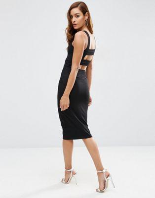 ASOS Strap Back Pini Body-Conscious Midi Dress