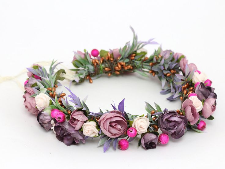 Haarblüten - ♥ Blumenkranz Blüten und Blättern ♥ - ein Designerstück von…