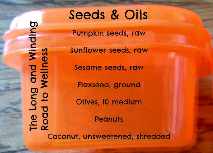 Orange Container:  Seeds & Oils #21DayFix (<1/4 Cup)