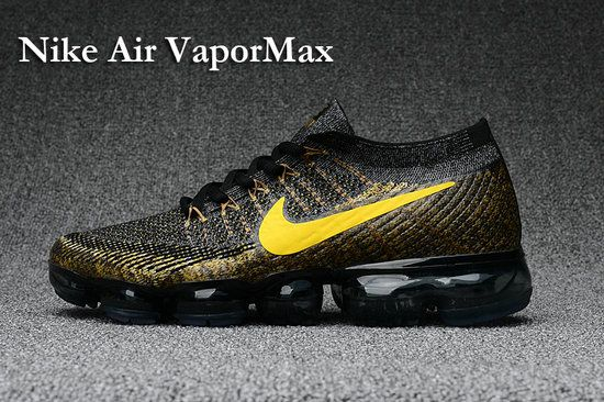 9e2277d1afe NIKE AIR VAPORMAX FLYKNIT Mens Shoes black gold Size 11