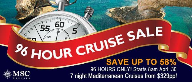 msc 96 hour april surprise sale