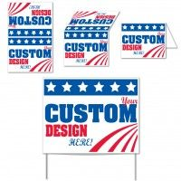 11x14 Posterboard Sign. Political Signs, Business Signs, Yard Signs for Your Business. Custom Yard Signs, Advertising Yard Sign, Political Yard Signs. Our poster board sign works great for short term outdoor sign usage.