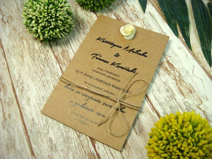 zaproszenia ślubne z różyczkami E4