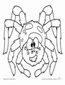 This is cute spider coloring page is great for Halloween, or any time you want to have some fun with arachnids!