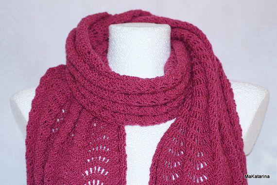 Crochet shawl merino shawl lace crochet shawl spring by MaKatarina