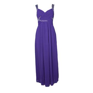 Max and Lola Purple Bead Detail Dress