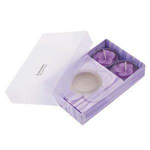 """3-delige kaarsenset-090 2176  3-delige kaarsenset """" Essence"""" bestaande uit 2 geurkaarsen en 1 houder. Verpakt in een geschenkdoos met transparante deks..."""