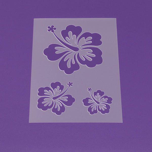 Schablone A3 Blume Hibiskus Blüte Hawaii - LM05   von Lunatik-Style via dawanda.com