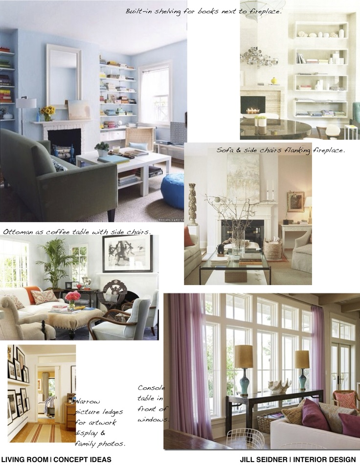 Interior Design Inspiration Concept Board For A Living Room