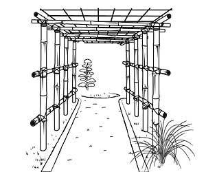 Fabriquer une pergola ou une tonnelle - Tonnelle en bambou : poser les panneaux
