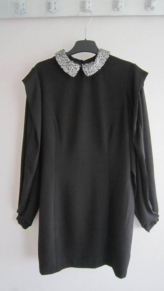 Eksept - collar dress in black. (verkocht)