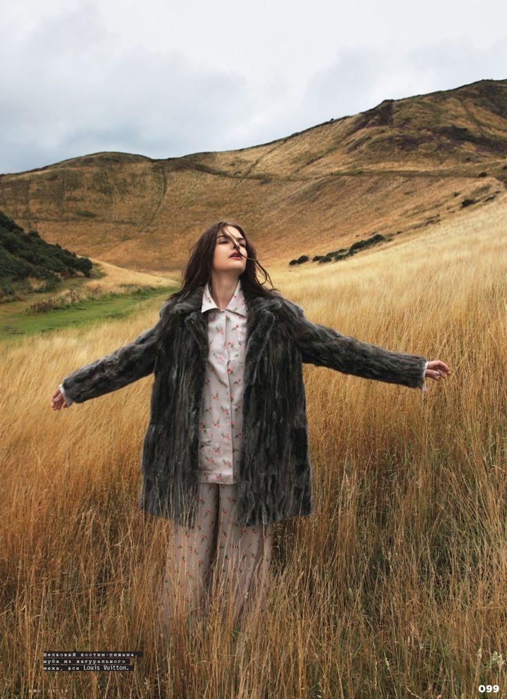pajamas -  Lucie von Alten is Pretty in Louis Vuitton for SnC by Nikolay Biryukov
