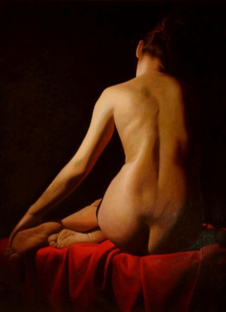 Virginie on red - Toby Boothman (1973, English)