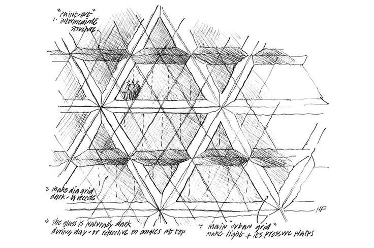 30 St Mary Axe Design Sketch
