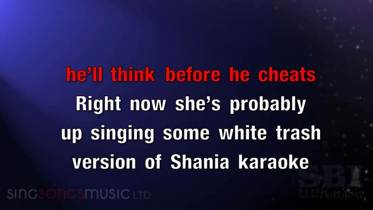 Before he cheats carrie underwood karaoke lyrics