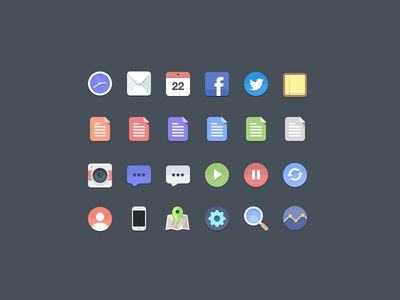 Free Flat Icons by Jan Dvořák via http://tympanus.net/codrops/