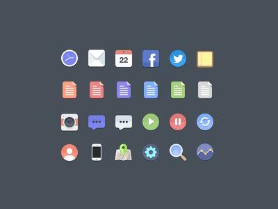 Free Flat Icons by Jan Dvořák via http://tympanus.net/codrops/