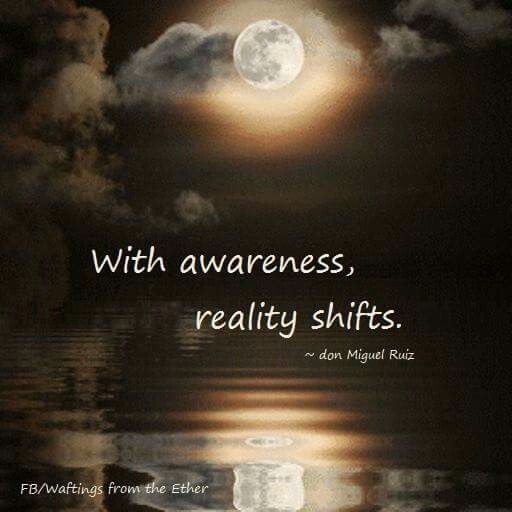 With awareness......