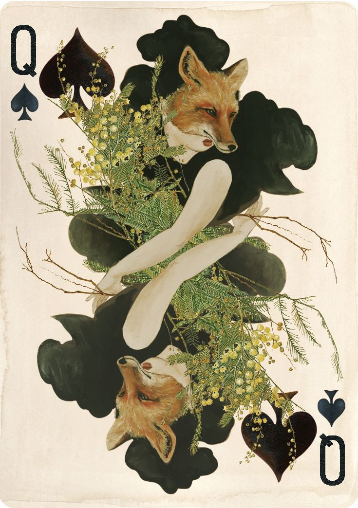 Uusi's Queen Of Spades from the Pagan playing card deck. Kinda nice Idee for a tattoo