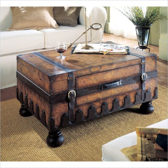 Map Coffee Table Ethan Allen: Vintage And Shabby Chic