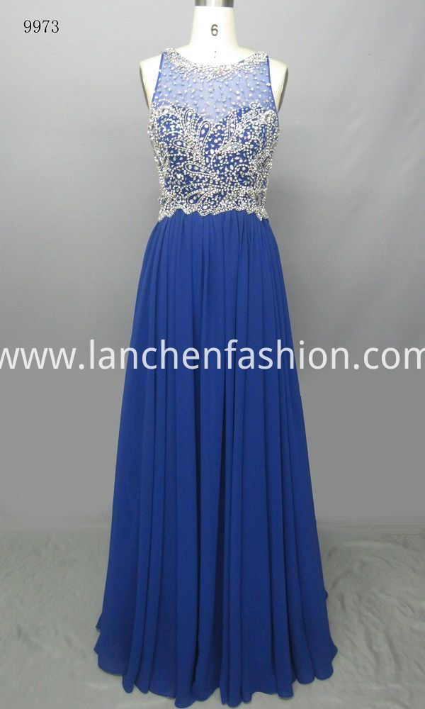 Great dressed up!This dress features matching crystal beading bodice,floor length skirt make it suit for Prom or Wedding.