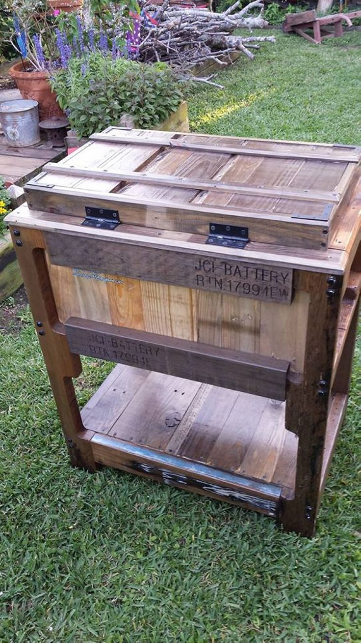 Wooden Pallets Ice Chest | Pallets Ideas (shared Via SlingPic)
